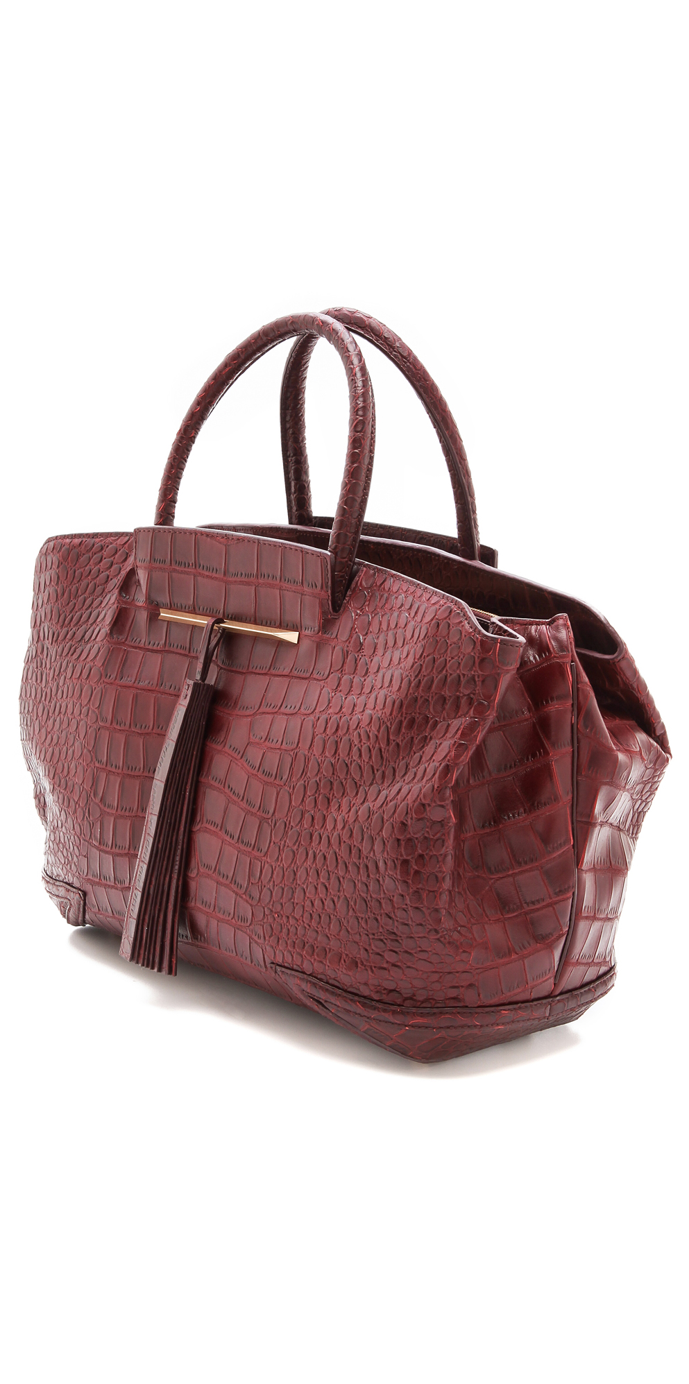 B Brian Atwood Croc Embossed Grace Bag