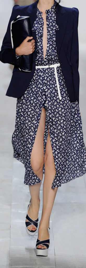 Michael Kors Floral Print Crepe Dress