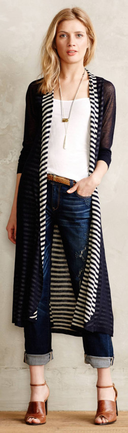 Anthropologie Stripe Cardigan