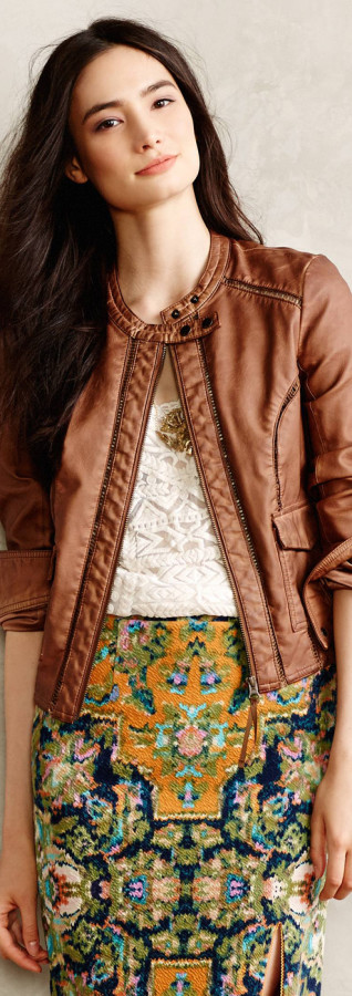 Anthropologie Vegan Leather Bomber
