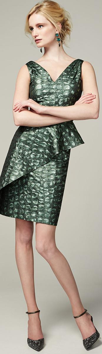 Kay Unger New York Peplum Cocktail Dress