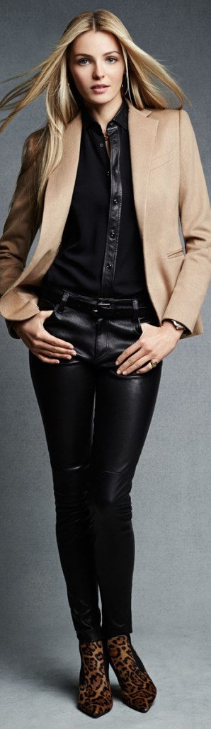 Ralph Lauren Stretch Leather Abbey Pant