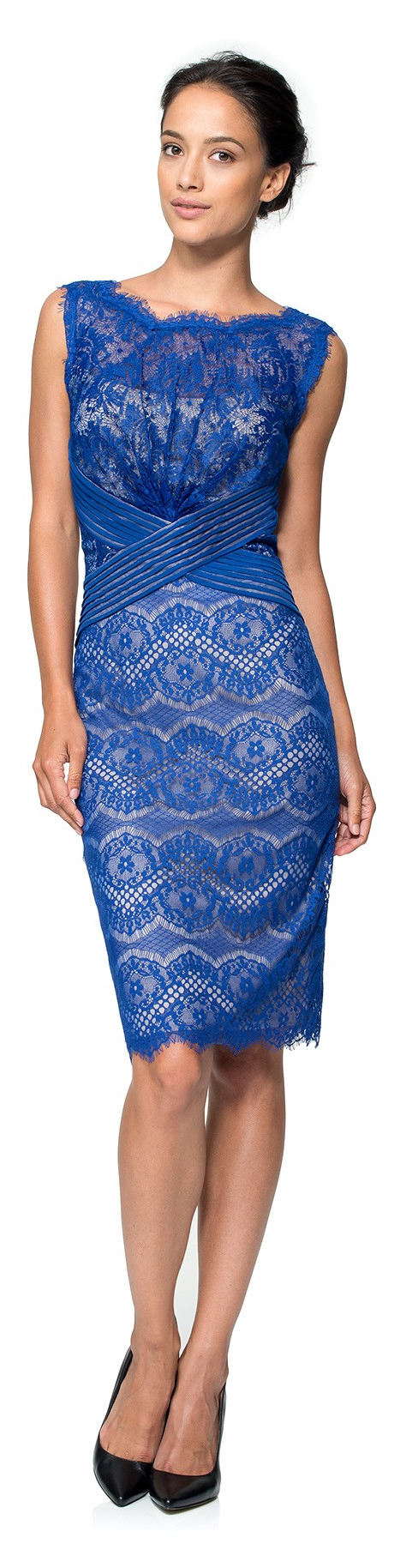 Tadashi shoji v neck lace cocktail dress – Dress blog Edin