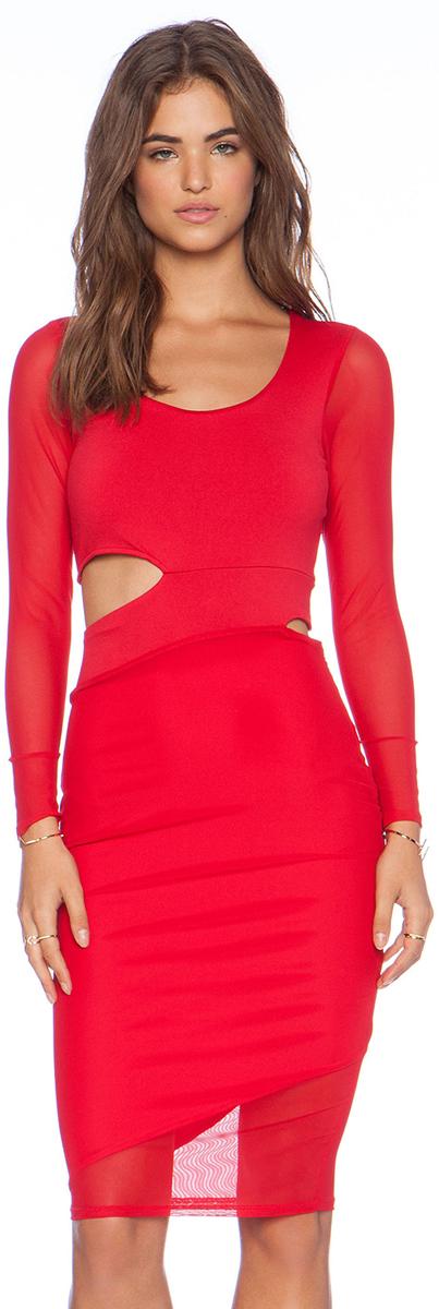 Donna Mizani Red Dress