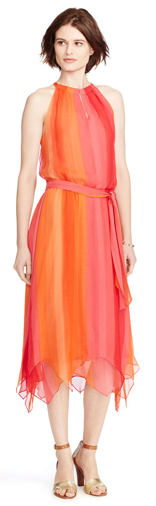 Ralph Lauren Silk Ombre Dress